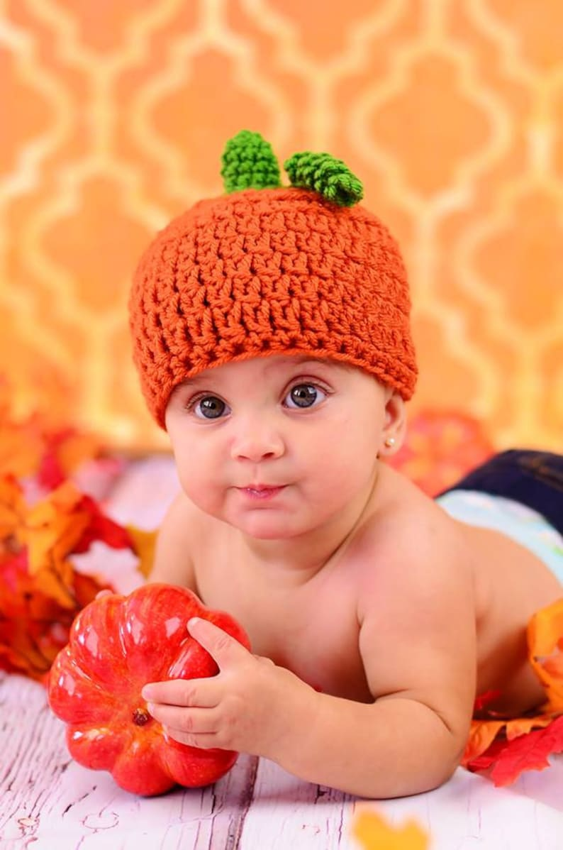 CROCHET HAT PATTERN: Pumpkin Hat pumpkin hat pattern pumpkin image 0