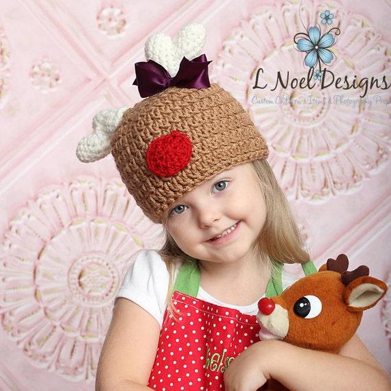 fd6200e5d1224 CROCHET PATTERN: Reindeer Hat- Baby Reindeer Hat Pattern - Newborn Deer Hat  Pattern- reindeer pdf- Christmas Crochet Pattern- Crochet deer