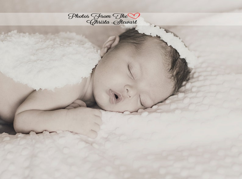 CROCHET HAT PATTERN: Newborn Angel Set crochet angel pattern image 0