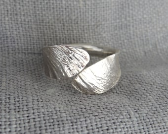 Interlaced Samara Adjustable Ring - Sustainable Sterling Silver 925 - Made to Order