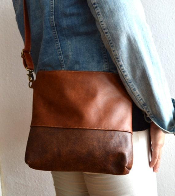 Leather crossbody bag Medium brown distressed leather purse   Etsy c78fef40d8