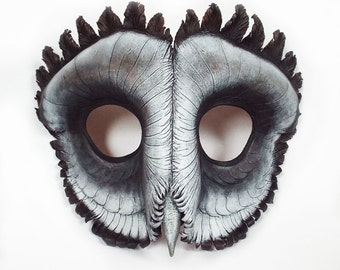 Sooty Owl Leather Mask
