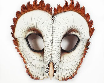 Barn Owl Leather Mask