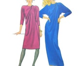 Front Wrap Cocktail or Party Dress with Shoulder Drape and Dolman Sleeves, Size 10 Bust 32 1/2, Butterick 4655, UNCUT 1980s Sewing Pattern