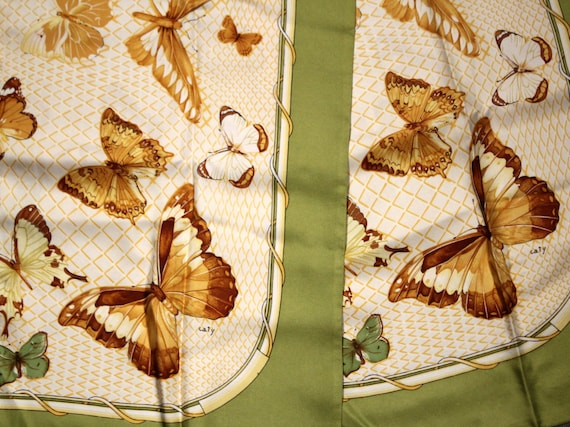 HERMES Vintage 80s Silk Scarf Farandole Silk Scarf