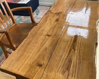 Desk – Solid Wood Office Desk, Live Edge Desk, Modern, Industrial Desk with Steel Legs.