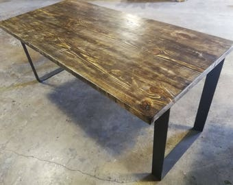 reclaimed wood and metal dining table stainless steel umbuzÖ reclaimed wood dining table wood dining table etsy