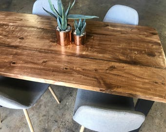 UMBUZÖ Reclaimed Wood U0026 Metal Dining Table