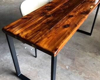 SALE! Reclaimed Wood & Steel Desk