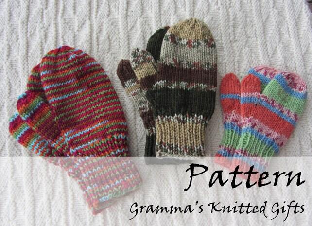 Classic Kids Mittens Knitting Pattern Etsy