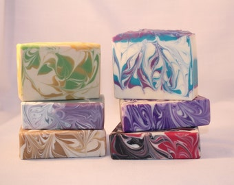 FREE SHIPPING! Cloose 10 Bars of Soap from my listings Handmade Scented Soap Cold and Hot Process