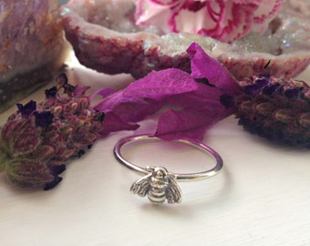 Pollinate Sterling Silver Bee Ring