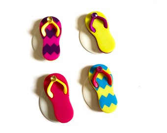Sandal Magnets, Flip Flop Magnets, FlipFlop Magnets, Summertime Magnets, Beach Magnets, Vacation Magnets, Summer Fun, Cruise