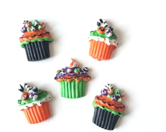 Christmas Magnets-Cupcake Magnets-Snowman Cupcake Magnets