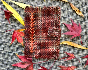 Handwoven Passport Cover Fall Colors