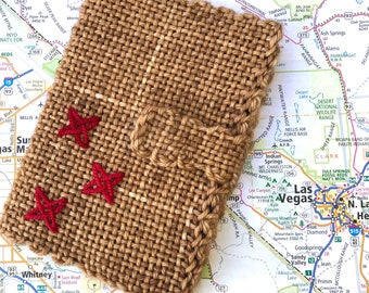 Handwoven Passport Cover Stars