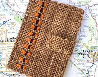 Handwoven Passport Cover Butterfly Stitch