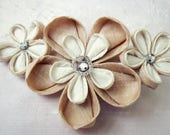 Kanzashi Flower Hair Clip - bridesmaids hairclips, boho bride, christmas gift, bridesmaid gift, alternative wedding, custom bridal clip