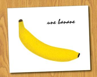 "Banana Print (8x10) - ""Une Banane"""