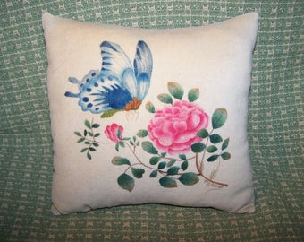 Rose and Butterfly Theorem Pillow (HSEAD Pattern)