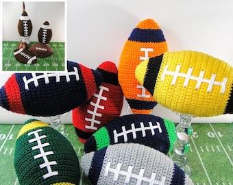 Football Crochet Pattern - Crochet Football Pillow Potholder and Plastic Bag Holder - Football Pillow Crochet Pattern - Instant Download PDF