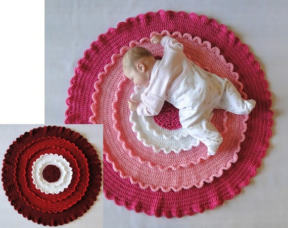 Blooming Flower Baby Afghan Crochet Pattern Blooming Flower Etsy