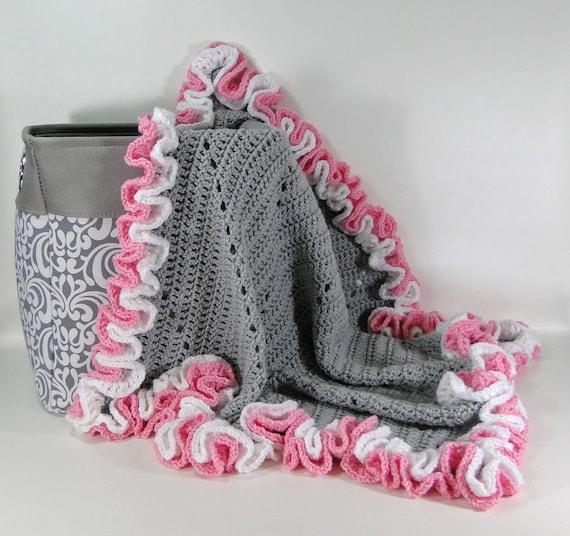 Modern Lace Baby Afghan Crochet Pattern Modern Lace Baby Etsy Beauteous Baby Afghan Crochet Patterns
