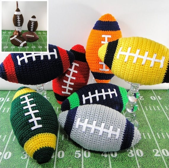 Football Crochet Pattern Crochet Football Pillow Potholder