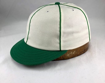 85e7f5554880c Crestline Highlanders Vintage Base Ball cap. Custom made 6 panel cap in  white wool serge