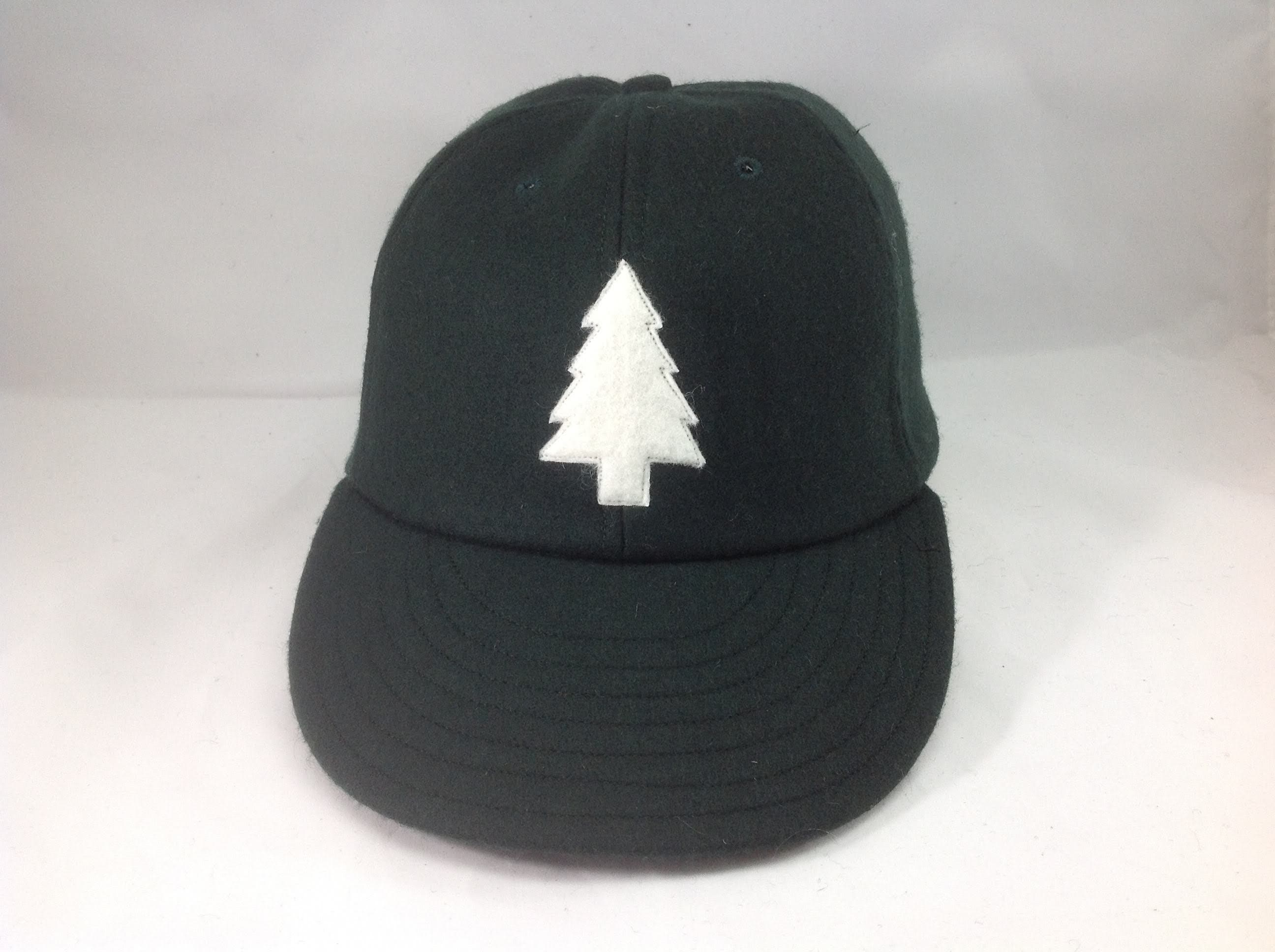 a55596fda168d Felt Pine tree logo on wool flannel cap. Chose cap color and size at ...