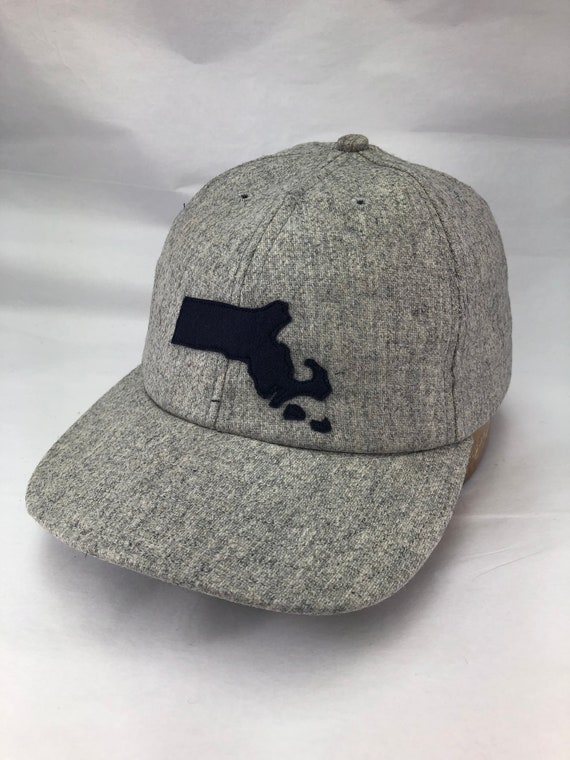 Hand crafted cap with Massachusetts logo in wool felt with Marthas Vineyard and Nantucket. Custom made to order.