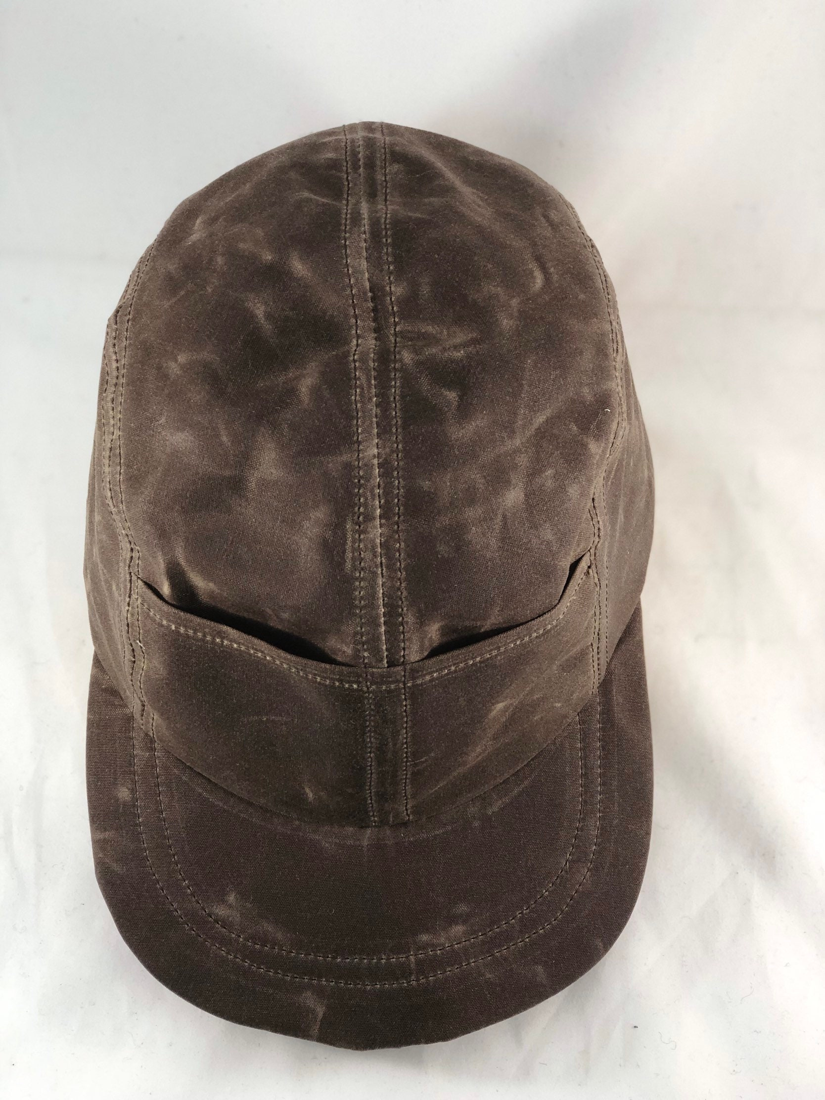 Quint Fishing Cap Waxed Cotton 4 Panel Cap With Front