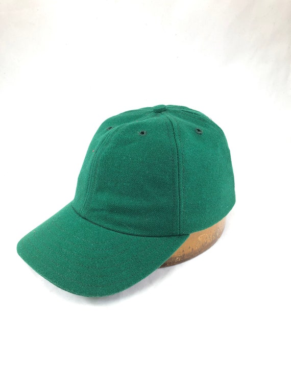 "Acrylic wool serge 6 panel baseball cap, custom made to order in any size. 3"" visor, cotton sweatband."
