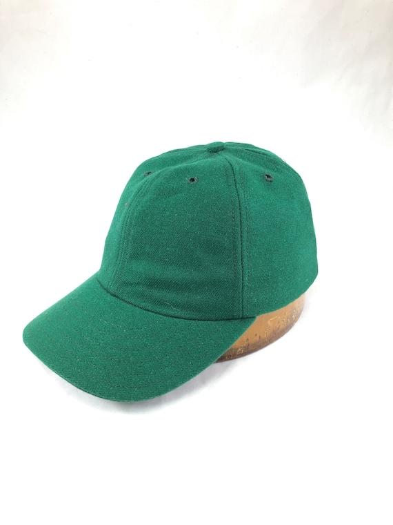 "Acrylic wool serge 6 panel baseball cap, custom made to order in any size. 3"" visor, cotton sweatband."