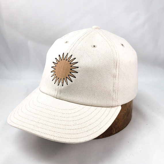 "SHINE BRIGHT - By Artist Daren Magee - Natural brushed cotton twill 6 panel cap with 3"" visor. Any size available."