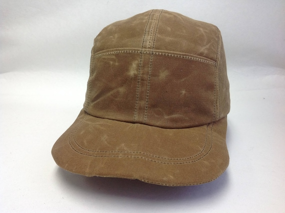 Quint Fishing Cap. Waxed cotton 4 panel cap with front pockets. Fitted or adjustable, any size.