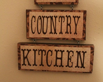 Country Kitchen Sign .My Country Kitchen Sign..Kitchen Decor.Cottage Chic. Home Decor.Country Decor..Ready to Ship. Handmade Sign.