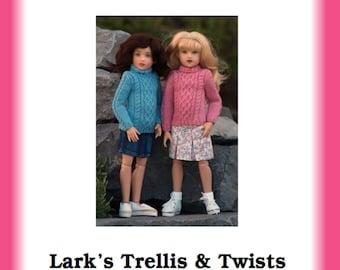 "Piper /& Lark Raven Basics Doll Clothes Sewing Pattern 14/"" Kish Wren"