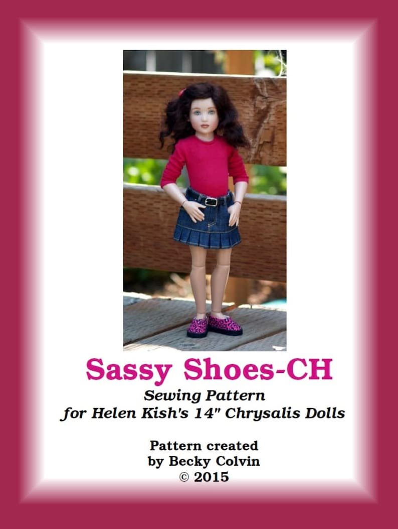 Sassy Shoes-CH  Sewing pattern for Helen Kish's 14 image 0