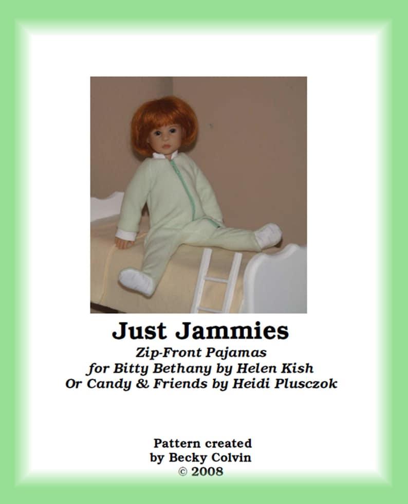 Just Jammies-BPDF Zip-front Pajamas Pattern for Helen image 0
