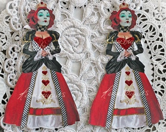 Reneabouquets Alice In Wonderland Premium Paper Die Cut Set~The Red Queen Choose Your Size Large or Small