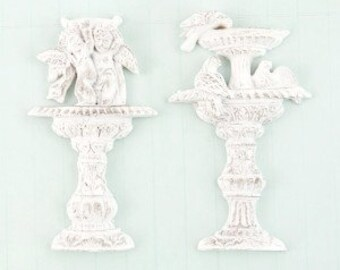 Prima Shabby Chic Treasures Collection Ingvild Bolme Resin Garden Fountain Embellishments
