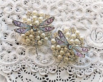 Reneabouquets To Mercury And Back Premium Paper Glitter Glass Dragonfly Set
