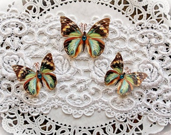 Reneabouquets Premium Paper Butterfly Set- Chasing Butterflies Glitter Glass Butterfflies