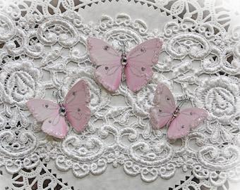 Reneabouquets Butterfly Set - Sweet As Candy Premium Paper Glitter Glass  Butterflies