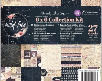 Prima Wild & Free Collection Kit 6 x 6 Scrapbook New Release In Stock Ready To Ship