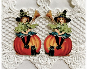 Reneabouquets Printed Beautiful Board Laser Cut Chipboard Winnie The Witch Die Cut Set Choose Size  Tiny, Small Or Large