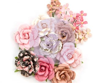 Prima Marketing Amelia Rose Flower Embellishment In Style~ Love And Luck New Release In Stock Ready To Ship