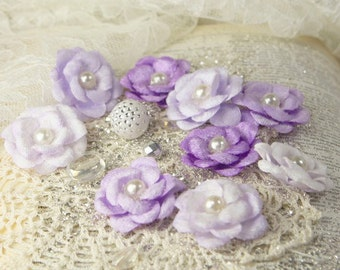 Prima Marketing Audrey Rose Collection Flowers In Iced Violet