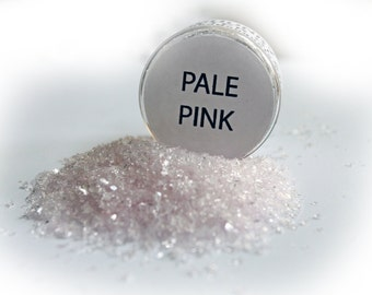Reneabouquets Chunky Glitter Glass ~ Pale Pink Choose Your Size .5 oz Jar or 2 oz Jar